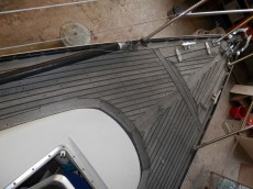 Altes Teakdeck  Monique-Anne V 1